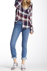 Level 99 Lily Mid Rise Skinny Straight Jean Blue