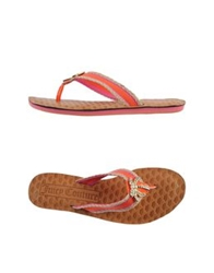 Juicy Couture Thong Sandals Orange