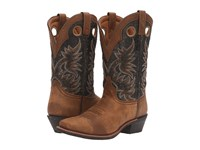 Laredo Stillwater Tan Black Cowboy Boots Multi