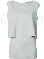 Dorothee Schumacher Layered Knitted Blouse Grey