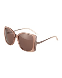 Nina Ricci Square Acetate Sunglasses Rose Pink