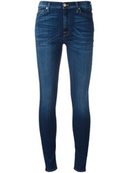 7 For All Mankind Skinny Cropped Jeans Blue