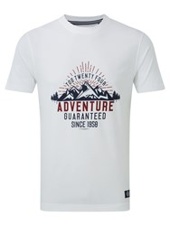 Tog 24 Galaxy Mens T Shirt Adventure Print White