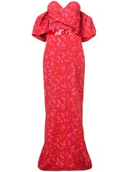 Sachin Babi And Tierra Gown Red