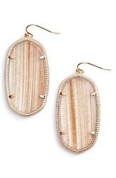 Kendra Scott Women's 'Danielle Large' Oval Statement Earrings Gold Dusted Glass Rose Gold