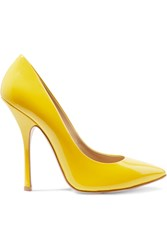 Giuseppe Zanotti Neon Patent Leather Pumps Yellow