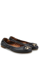 See By Chloe Leather Ballerinas Black