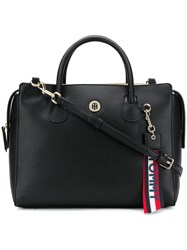 Tommy Hilfiger Keyring Detail Shoulder Bag Black