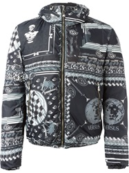 Versus Reversible Printed Padded Jacket Black