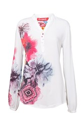 Desigual Blouse Butterfly White