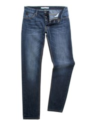 Racing Green Marr Slim Fit Stonewash Jean Blue