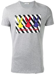 Iceberg Embellished Printed T Shirt Grey