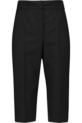 Dolce And Gabbana Woven Stretch Wool Shorts Black