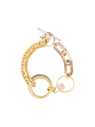Wouters And Hendrix Contrast Chain Bracelet Gold