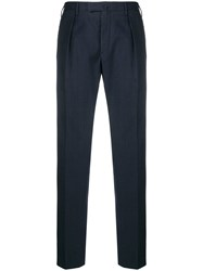 Incotex Pleated Tailored Trousers Blue