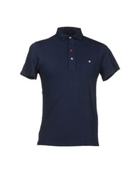 Macchia J Topwear Polo Shirts Men Dark Blue