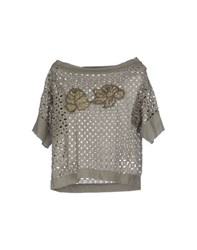 Vicolo Shirts Blouses Women Grey