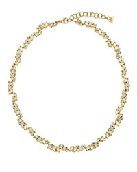Temple St. Clair 18K Yellow Gold Moonstone And Diamond Cluster Necklace 18 White Gold