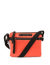 Kenneth Cole Reaction Bondi Girl Leather Crossbody Bag Electric Red