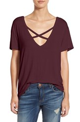 Socialite Women's Cross Front Tee