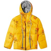 Off White Industrial Zipped Puffer Jacket Yellow