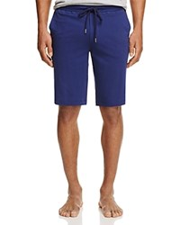 Hanro Harvey Knit Lounge Shorts Deep Cobalt