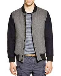 Scotch And Soda Wool Bomber Jacket