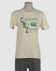 Canterbury Of New Zealand Short Sleeve T Shirts Beige