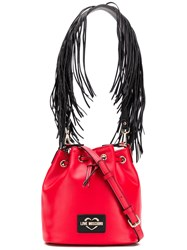 Love Moschino Fringe Strap Bag Red
