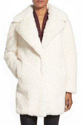 Women's Kensie 'Teddy Bear' Notch Collar Faux Fur Coat Online Only