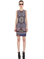 Clover Canyon Stained Glass Printed Neoprene Dress