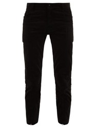 Sasquatchfabrix. Sasquatchfabrix Cotton Blend Corduroy Cropped Trousers Black