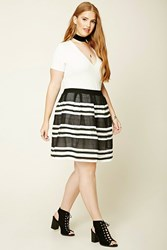 Forever 21 Plus Size Striped Skirt