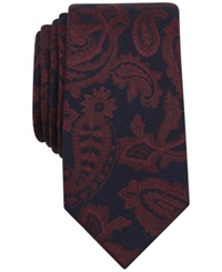 Bar Iii Amber Paisley Tie Only At Macy's Burgundy