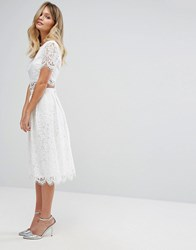New Look Lace Prom Skirt Co Ord White
