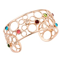 London Road 9Ct Rose Gold Multi Stone Bangle Rose Gold