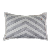 Tommy Hilfiger Navy Striped Satin Pillowcase 65X65cm