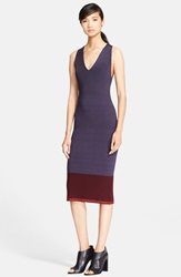 Rag And Bone 'Kristin' Colorblock Rib Knit Midi Dress Deep Well