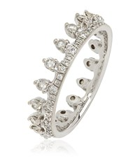 Annoushka White Gold Crown Ring Female Silver