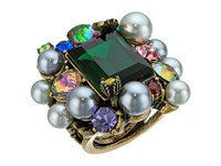 Betsey Johnson Rose Hematite Multi Cluster Ring Multi Ring