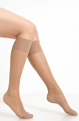 Oroblu 'Mi Bas Repos 70' Sheer Support Knee Highs Nude