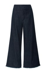 Citizens Of Humanity Cropped Palazzo Pants Dark Wash