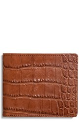 Shinola Men's Alligator Leather Wallet Brown Bourbon