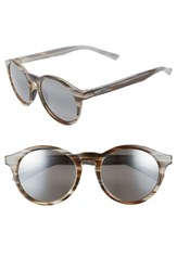 Maui Jim Pineapple 50Mm Polarized Round Sunglasses Slate Grey Brown Stripe Slate Grey Brown Stripe
