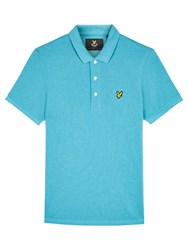 Lyle And Scott Marl Cotton Polo Shirt Pacific Blue Marl