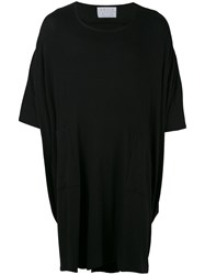 House Of The Very Islands Loose Fit Flared Long T Shirt Unisex Cotton M Black