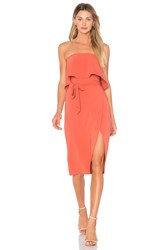 Lovers Friends X Revolve Max Midi Dress Burnt Orange