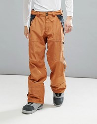 Dc Shoes Snow Nomad Trousers In 30K Sympatex Fabric Brown