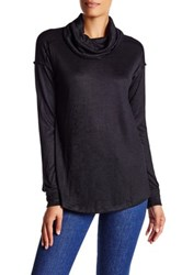 Wild Pearl Long Sleeve Cowl Neck Sweater Black