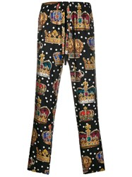 Dolce And Gabbana Graphic Print Track Pants 60